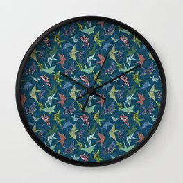 Washi Origami Cranes Wall Clock