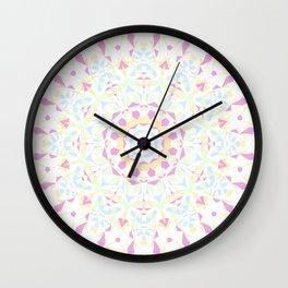 Folksy Mandala 2 Wall Clock