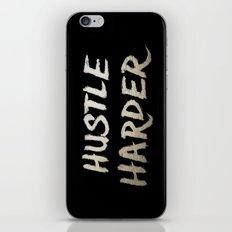 Hustle Harder iPhone & iPod Skin
