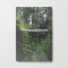 381. Suspension Bridge in Forest, Vancouver, Canada Metal Print