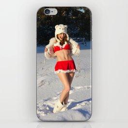 christmas girl iPhone Skin