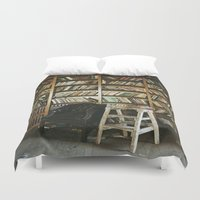 library Duvet Covers featuring Library by dekko