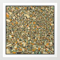 MILAN MAP Art Print
