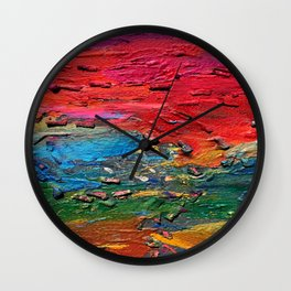 View from the earth Wall Clock