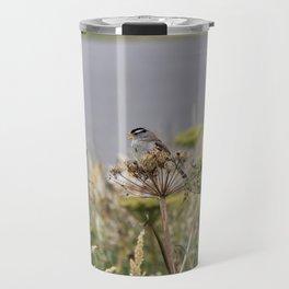 Crowned Sparrow Travel Mug