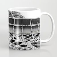 eiffel tower Mugs featuring Eiffel Tower by James Tamim