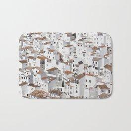 HOUSES - TALL - WHITE Bath Mat