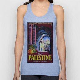 Vintage poster - Palestine Unisex Tank Top