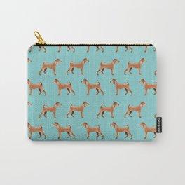Irish Terrier dog breed pet pattern dog art pet friendly terriers portrait Carry-All Pouch