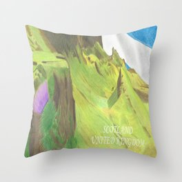 The Majesty of Scotland Throw Pillow