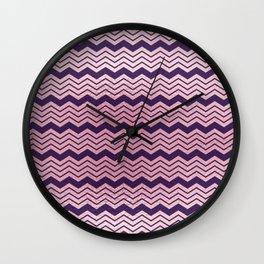 Geometrical purple pastel pink ombre chevron Wall Clock