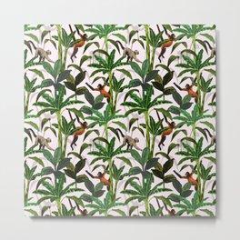 Monkey Jungle Metal Print