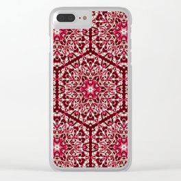 Red geometric Mandala Rich Ornament Clear iPhone Case