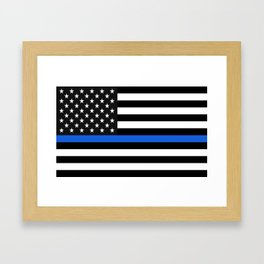 Thin Blue Line American Flag Framed Art Print