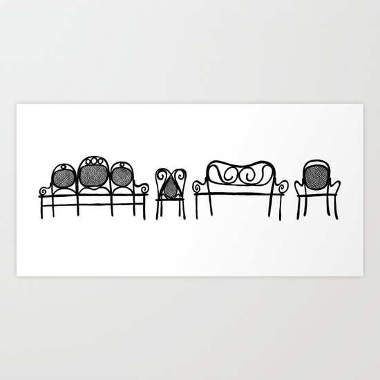 Tonet chairs Art Print
