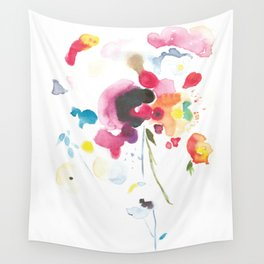 Abstract Bouquet Wall Tapestry