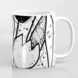 Scribble Doodle Flowers No.2A by Kathy Morton Stanion Coffee Mug