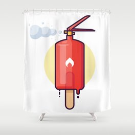 Ice cream extinguisher Shower Curtain
