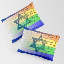 Gay Rainbow Wall Israel Flag Pillow Sham