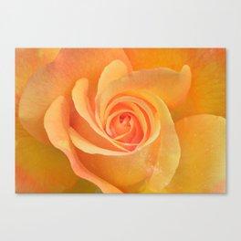 Cosmic Petal - Yellow Canvas Print