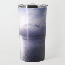 Lilac Grey Sea  Travel Mug