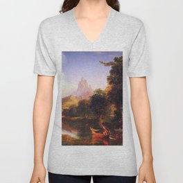 Voyage of Life: No. 2 of 4 Youth by Thomas Cole Unisex V-Neck