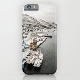 Boats in Tromsø in Northern Norway, Above the Arctic Circle iPhone Case