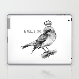 Bird and Quote by Magda Opoka | Animals | Painting | Illustration Laptop & iPad Skin