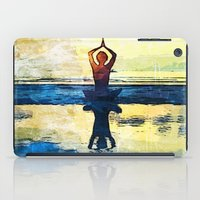 yoga iPad Cases featuring yoga by Chantale Roger