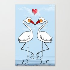 Heron Birds In Love Canvas Print