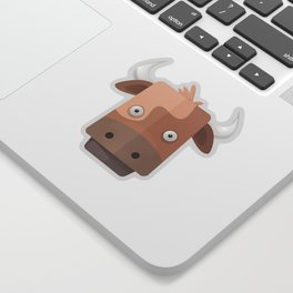 The Cow of Videos Manguis Sticker