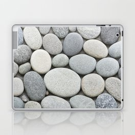 Grey Beige Smooth Pebble Collection Laptop & iPad Skin