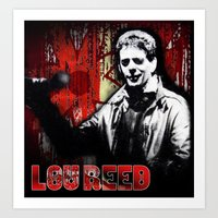 lou reed Art Prints featuring Lou by Alan Hogan