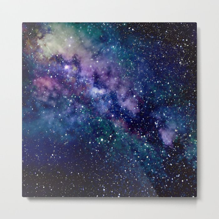 Milky Way Metal Print - Square Metal Wall Art