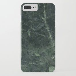 Dark Green Marble Texture Stone iPhone Case
