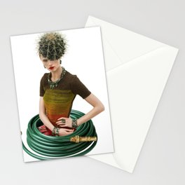 Green Garden by Lenka Laskoradova Stationery Cards