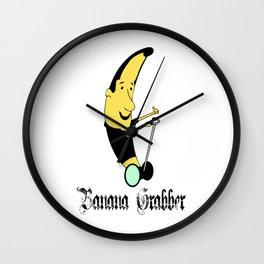 Banana Grabber, OG Old English Style Wall Clock
