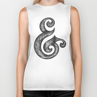 ampersand Biker Tanks featuring Ampersand by Norman Duenas