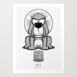 Critter Alliance - Bad Dog Art Print