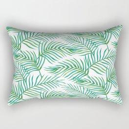 Palm Leaves_Bg White Rectangular Pillow