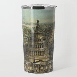 Vintage Pictorial Map of Washington D.C. (1871) Travel Mug