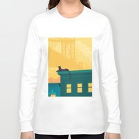 urban Long Sleeve T-shirts featuring Urban jaguar by Roland Banrevi