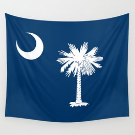 Flag of South Carolina - High Quality image Wall Tapestry