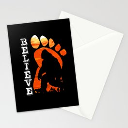 Bigfoot Sunset Believe Sasquatch Mythical Beast Stationery Cards