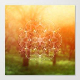 Valinor (Undying Lands)   Sacred geometry art Canvas Print