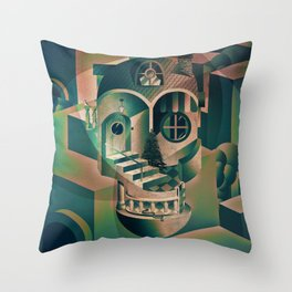 Utopia Skull 1 Throw Pillow