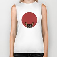 chihuahua Biker Tanks featuring Chihuahua by Anne Was Here
