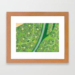 Green Garden City in Denmark Framed Art Print