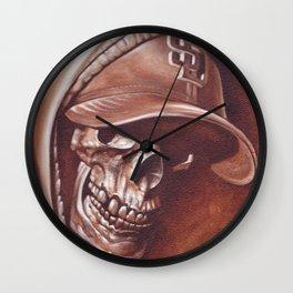 skull and cap Wall Clock