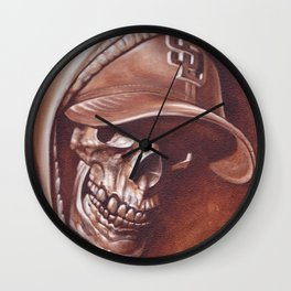skull and cap Wall Clock